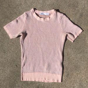 ZARA nubby knit top!